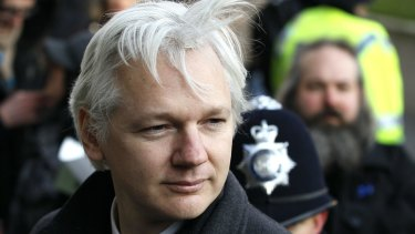 Julian Assange arrives at the Supreme Court in London in 2012.