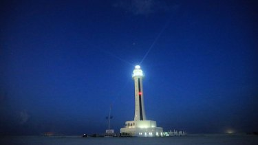 Expansion: The China-built lighthouse on Zhubi Reef of Nansha Islands in the South China Sea.