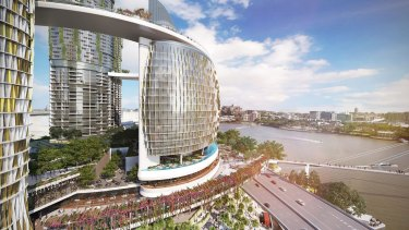 """Brisbane City Council suggests the Queens Wharf devellopment could include """"automatic waste collection"""" similar to the idea launched in Maroochydore."""