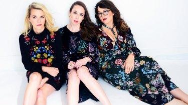Progressive-folk supergroup I'm With Her are Aoife O'Donovan (left), Sarah Jarosz and   Sara Watkins.