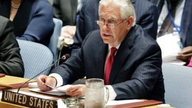 """The more we bide our time, the sooner we will run out of it,"" Secretary of State Rex Tillerson told the UN Security Council meeting on Friday."