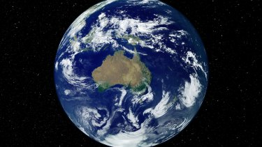 Planet Earth as viewed from space.