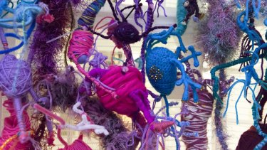 Warm welcome: during Science Week, Echuca will host Neural Knitworks which explores brain functioning through knitted  dendrites, axons and ganglia.