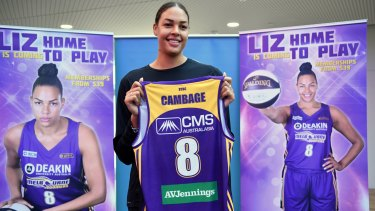 Making a comeback: Liz Cambage has signed with Melbourne Boomers and hasn't ruled out a return to the WNBA.