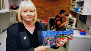 Asbestos Council of Victoria chief executive Vicki Hamilton holds grave concerns after asbestos testing of crayons.