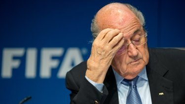On his way out: Sepp Blatter has announced that he will resign.