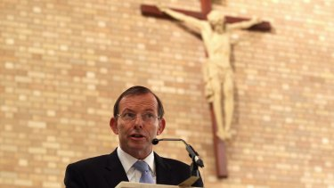 Staunch Catholic and No voter Tony Abbott.