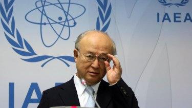 Director General of the International Atomic Energy Agency, IAEA, Yukiya Amano.