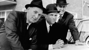 Homicide actors Jack Fegan, Leonard Teale and Terry McDermott.