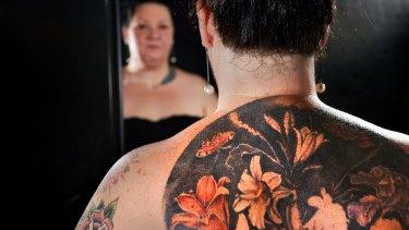 Sandra Minchin-Delohery's back tattoo.