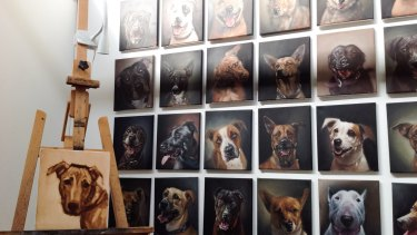 More than half of the money paid for each portrait will be donated to Animal Welfare League Queensland.