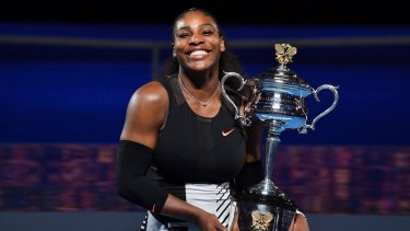 Serena Williams was nearly eight weeks pregnant when she won the Australian Open in January.