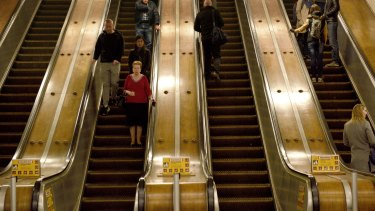 The first wooden escalators had been installed at Wynyard Station in 1932.