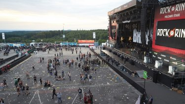 The festival site was evacuated over a terror threat.