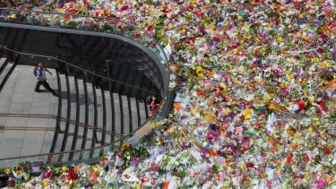 Thousands of bouquets have been left at Martin Place.