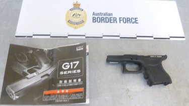 Border Force say they intercepted seven packages of gun parts.