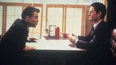 <i>Twin Peaks</i> co-creator David Lynch, left, as FBI Bureau Chief Gordon Cole and Kyle  MacLachlan as Agent Dale Cooper.