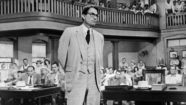 Gregory Peck as Atticus Finch in the 1962 film adaptation of Harper Lee's <i>To Kill A Mockingbird</i>. Peck won the Oscar for Best Actor for his performance and remained a friend of Lee.