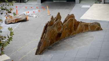 <i>Strata</i>, the 2001 work by New Zealand artist Chris Booth, that is soon to be removed.