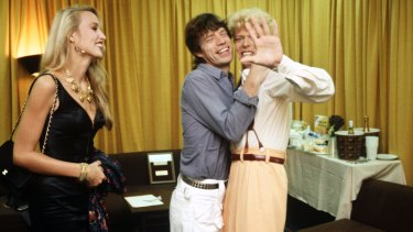 David Bowie, Mick Jagger and Jerry Hall