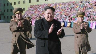 Friend of Russia: North Korean leader Kim Jong-un in Pyongyang on December 9.