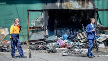 The abandoned Kinnear warehouse in Footscray, where three people died on Wednesday night.