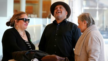 Megan Davis, Noel Pearson and Pat Anderson in conversation during the convention.