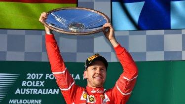 Melbourne winner: Ferrari's Sebastian Vettel.
