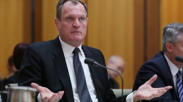 Chris Jordan, Commissioner of Taxation at the Australian Tax Office, appears before Senate estimates on Tuesday.