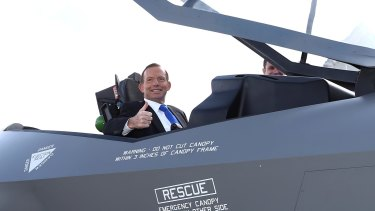 In April 2014, Tony Abbott announced Australia would buy 58 more F-35 fighters.