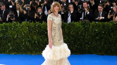 Anna Wintour at this year's Met Gala, which has partly inspired the NGV Gala.