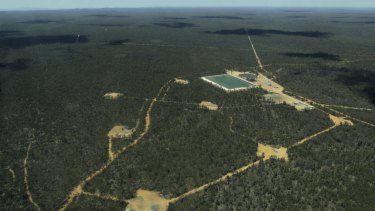 Part of the Narrabri gas project in the Pilliga State Forest where Santos hopes to drill as many as 850 wells.