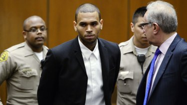 Chris Brown has been issued with a notice of intent to refuse him a visa.