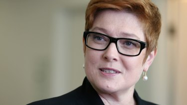 Australian Defence Minister Marise Payne in Canberra last month.