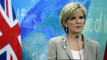Stirring the pot: Australian Foreign Minister Julie Bishop is being talked up as a future leader of the Liberal Party.