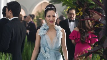 Constance Wu in the groundbreaking – and very funny – Crazy Rich Asians.