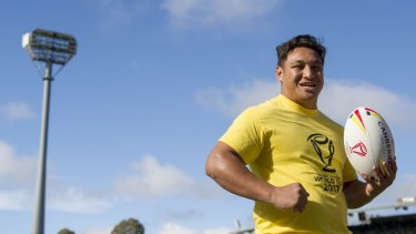Josh Papalii could play for Samoa at the World Cup.
