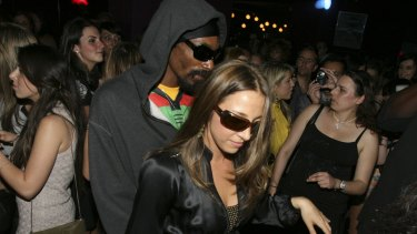 Snoop Dog at a Sydney nightclub during his 2008 visit.