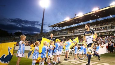 The Brumbies use Canberra Stadium for seven or eight home games per year.