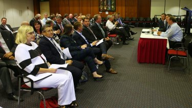 The Liberal National Party's 42 MPs meet for their first party room meeting since officially returning to opposition.