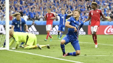 Dare to dream: Iceland's fairytale run continues against England.