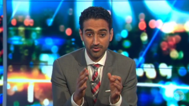 Waleed Aly delivers his editorial, which went viral.