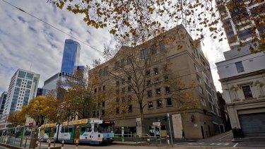 The carpark at 380 Flinders Street, Melbourne.