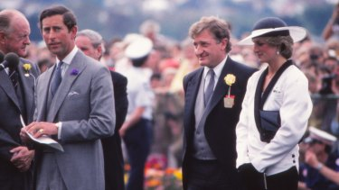 Prince Charles and Princess Diana at the Melbourne Cup in 1985.