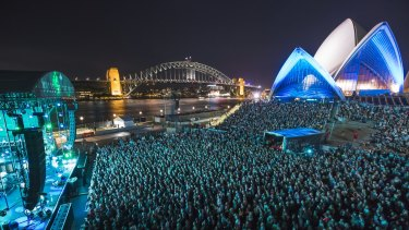 Not a bad spot for a gig - the Opera House forecourt will host three big shows in November