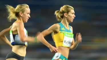 Zoe Buckman of Australia competes in the Women's 1500m at the Rio Olympics.