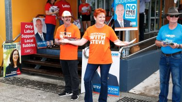 One Nation leader Pauline Hanson on election day last weekend.