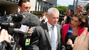 One Nation Senator Malcolm Roberts outside the High Court, Brisbane, on Thursday.