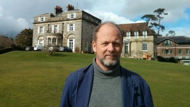 Author Alex Renton at Ashdown House prep school in England.