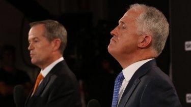 Opposition Leader Bill Shorten and Prime Minister Malcolm Turnbull.